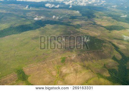 Aerial View Of Tepui Table Mountain In Venezuela