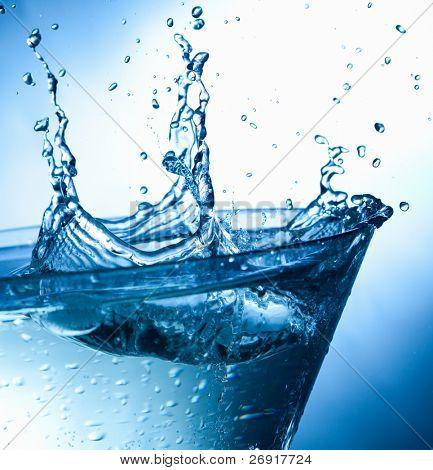 splashing water drops