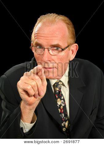 Intimidating Businessman