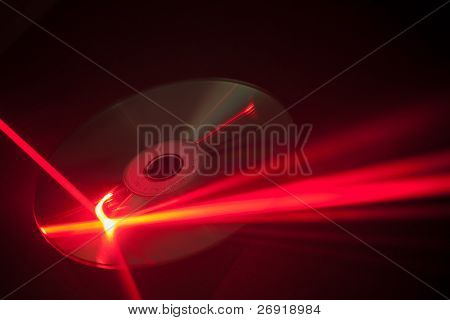 laser ray on the disk
