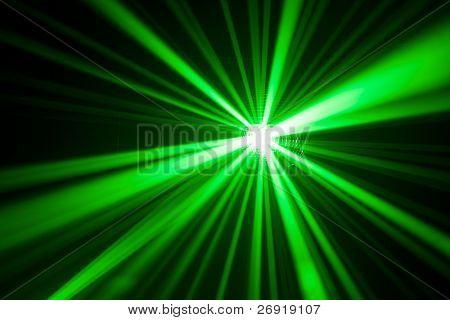 green laser light reflection