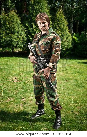 soldier in the field