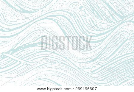 Grunge Texture. Distress Blue Rough Trace. Captivating Background. Noise Dirty Grunge Texture. Fancy