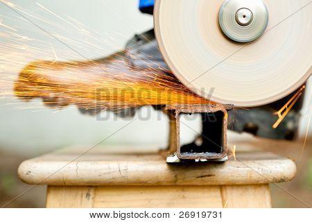 cutoff wheel in action