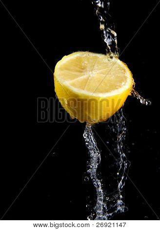 Fresh Water Splash And Lemon