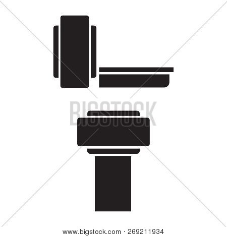 Medical MRI scanner diagnostic icons. Ct scan radiology vector icons poster