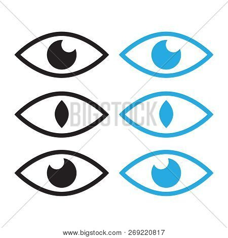Human eye and view symbols. Icon oversight, supervision logo poster