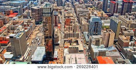 Skyscrapers In The City. City Life. Amazing Urban Landscape. Awesome Photo Of Megalopolis. Modern Li
