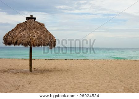 ocean view on the beach in miami , florida, place for holiday