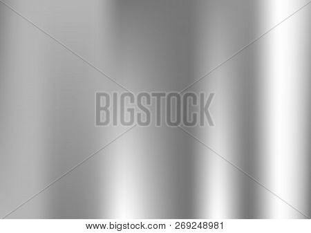 Grey Gradient. White And Black Vector Foil Backdrop. Light Silver, Gray Vector Blurry Monochrome Tex
