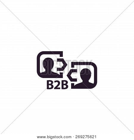 B2b Commerce, Business Concept Icon, Eps 10 File, Easy To Edit