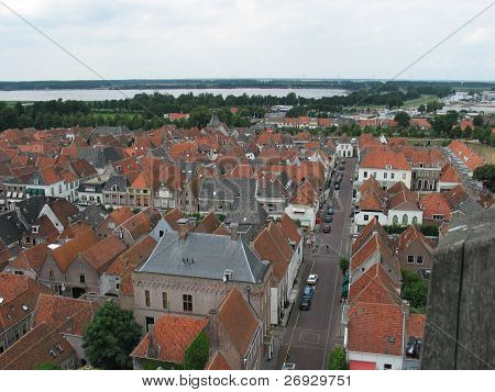 Bird look of a Dutch city