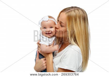 Beautiful Young Mother With Toddler Baby Girl