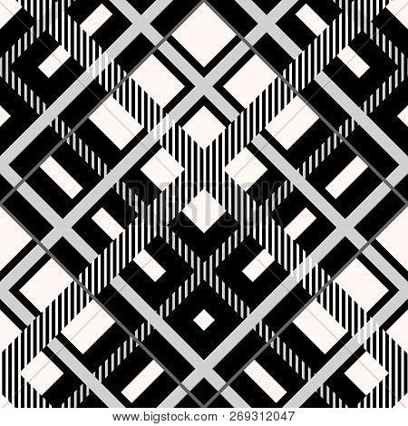 Menzies Tartan Black Kilt Fabric Texture Seamless Pattern .vector Illustration. Eps 10. No Transpare