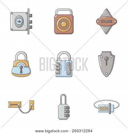 Shut Icons Set. Cartoon Set Of 9 Shut Vector Icons For Web Isolated On White Background