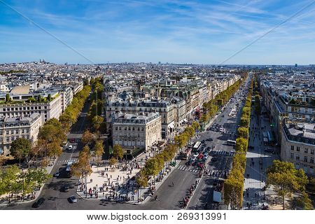 View To The Basilica Sacre-coeur In Paris, France.