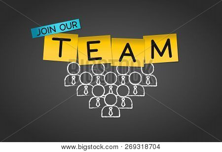 Join Our Team Collaboration Group Concept Background