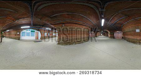 Soligorsk , Belarus - September, 2013:  Full Seamless Spherical Panorama 360 Degrees In Interior Of