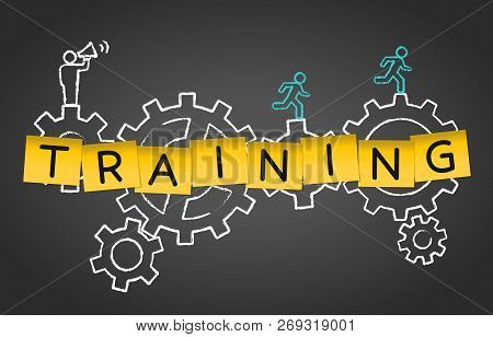 Training Coaching Mentoring Advice Gear Concept Background