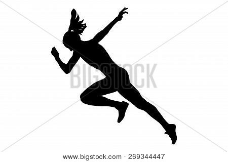 Start Running Faster Woman Sprinter Runner Athlete