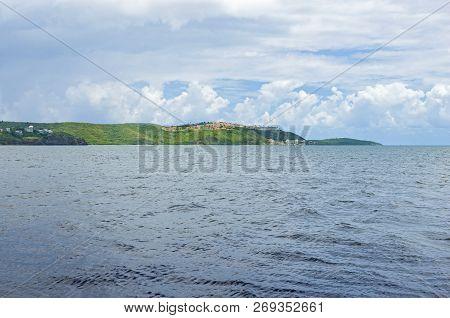 Seascape Of Fajardo Bay And Resorts Along Atlantic Coast In Puerto Rico