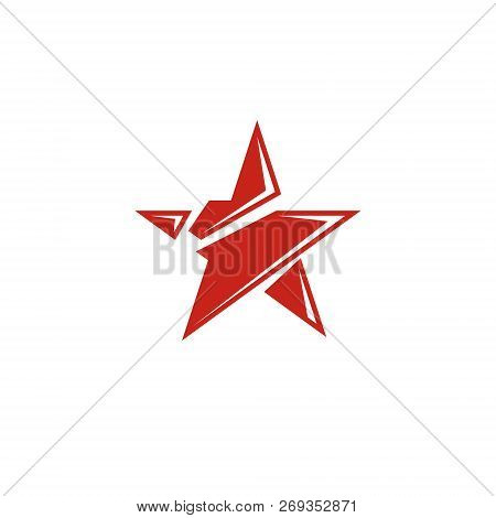 Vector Star Illustration As The Symbol Of Success. Can Be Used As The Interpretation Of Totalitarian