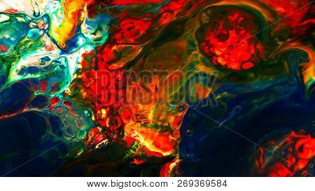 Abstract Paint Brush Ink Smooth Concept Symmetric Pattern Turbulence poster