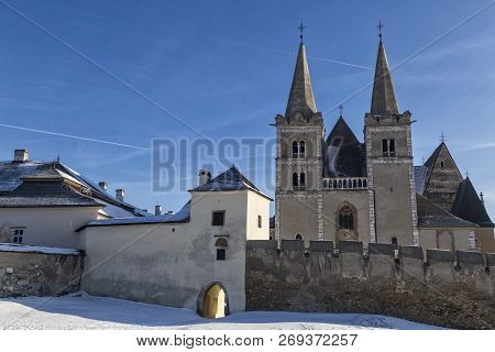 Ancient Spisska Kapitula And Saint  Martin Cathedral ( Spis Chapter House , Slovak Vatican ) At Wint