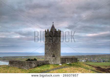 Doonagore castle at dusk - HDR