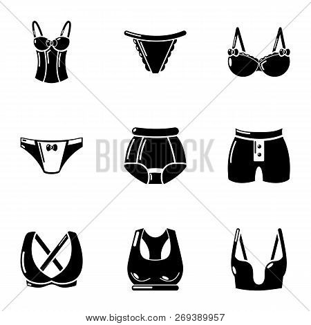 Undergarment Icons Set. Simple Set Of 9 Undergarment Icons For Web Isolated On White Background