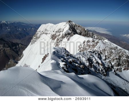 The view towards the south face from the summit of Aconcagua poster