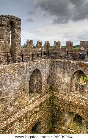 Interior walls of medieval Blarney Castle - Ireland