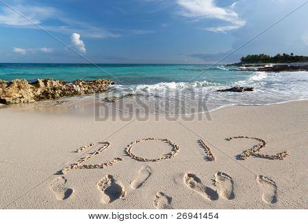 Ano de 2012 no mar das Caraíbas, no México