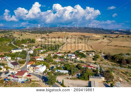 View Of Kouklia Village. Paphos District, Cyprus.