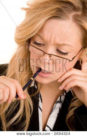 Businesswoman Solving A Problem