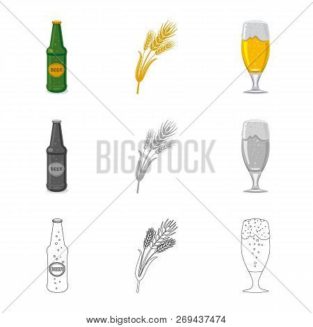 Vector Design Of Pub And Bar Symbol. Collection Of Pub And Interior Stock Vector Illustration.