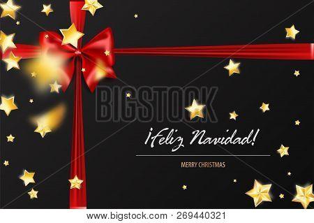 Merry Christmas In Spanish.Feliz Navidad Merry Vector Photo Free Trial Bigstock