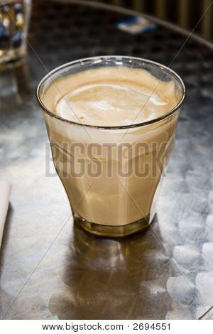 Caffe Latte On The Desk