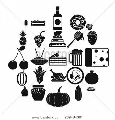 Gastronomic Pleasure Icons Set. Simple Set Of 25 Gastronomic Pleasure Vector Icons For Web Isolated