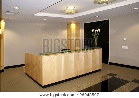 Office interior - reception desk