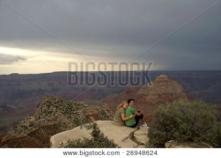 Grand Canyon National Park - North Rim   before the storm