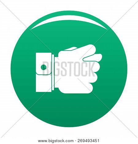 Hand Greed Icon. Simple Illustration Of Hand Greed Vector Icon For Any Design Green