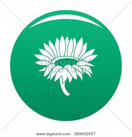 Blossoming Sunflower Icon. Simple Illustration Of Blossoming Sunflower Vector Icon For Any Design Gr