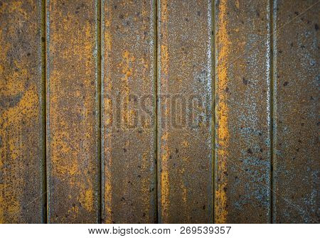 Rusty Grunge Metal Texture Iron Or Steel On Squre Tubes For A Graphic Design