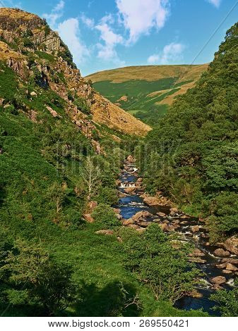 Upper River Towy Valley. A View From Off The Beaten Track Taken From Just Below Llyn Brianne, The Di