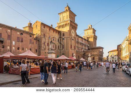 Ferrara,italy - September 23,2018 - View At The Corso Street Of  Ferrara.ferrara Is A Town And Comun