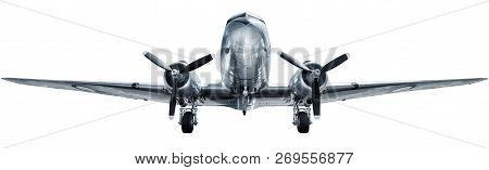 Historical Aircraft Isolated Against A White Background