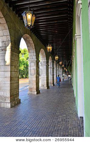 Palacio de Gobierno, Merida, Mexico - arcade