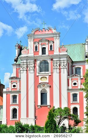 Baroque parish and collegiate church (Fara Poznanska) in Poznan, Poland