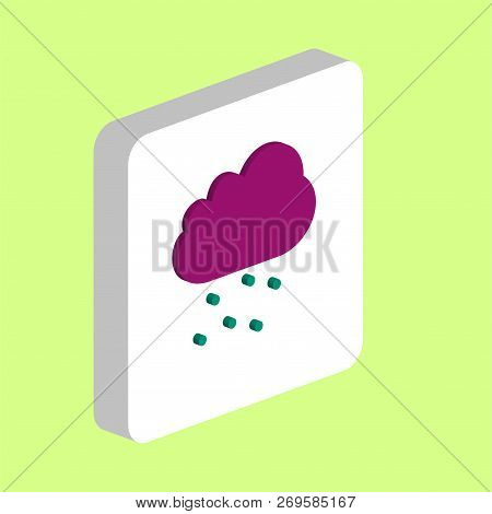 Hail Cloud Simple Vector Icon. Illustration Symbol Design Template For Web Mobile Ui Element. Perfec